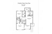 Panther Place 2 bdr 2 bath floorplan
